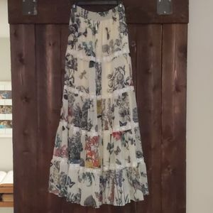 Anthropologie floral skirt